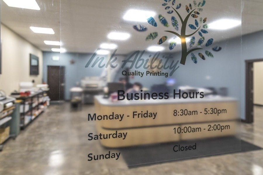 Ink Ability, a full-service print shop, opened in Battle Ground on Feb. 6. The shop is located in the Battle Ground Plaza near Terie's Home Furnishings and Legions Realty. Photo by Mike Schultz