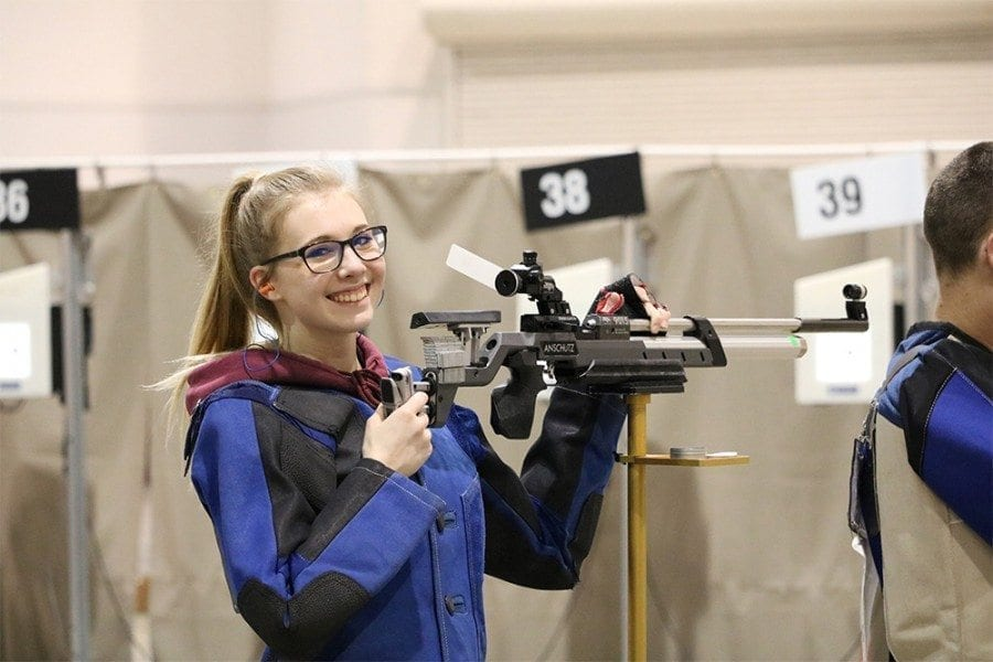 JRTOC Kaci McCreary: Kaci McCreary, a senior at Prairie High School, received top honors at the JROTC Western Regional Air Rifle Championships in Las Vegas Feb. 9-11. Photo courtesy of Diane Harpe