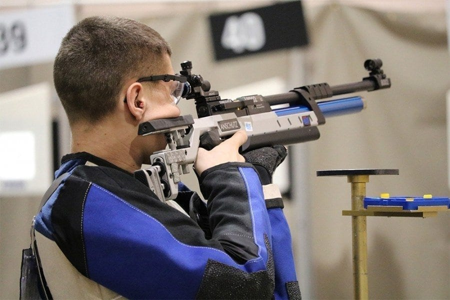 Taylor Harpe, a sophomore at Battle Ground High School, was one of two Battle Ground Public Schools' students to receive top honors at the JROTC Western Regional Air Rifle Championships in Las Vegas Feb. 9-11. Photo courtesy of Diane Harpe
