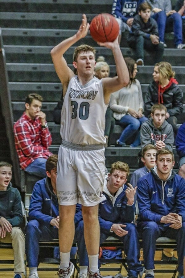 Union's Cameron Cranston (30) averaged 19.7 points per game this  season while shooting 54 percent from the  field, 38 percent from 3-point range and 88 percent at the free throw line. Photo by Mike Schultz