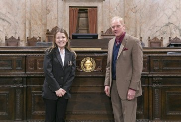 Rep. Paul Harris sponsors Prairie High School student as page in the state House of Representatives