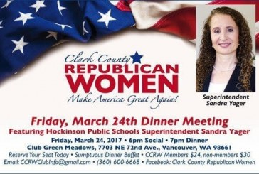 Hockinson Superintendent Sandra Yager to provide keynote address at Republican Women's Dinner