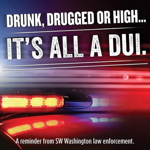 The Vancouver, Battle Ground and Washougal police departments are ramping up DUI patrols on St. Patrick's Day (Fri., March 17). Flyer courtesy of Vancouver Police Department