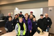 New Rotary Club completes first Ridgefield service task