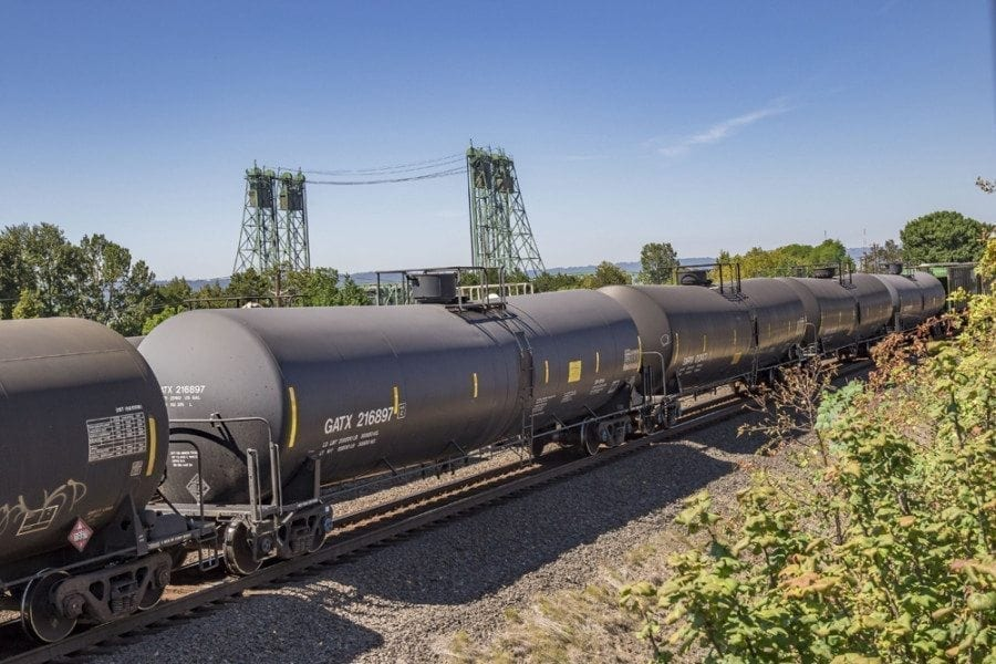 The proposed Tesoro-Savage Vancouver Energy oil-by-rail project could bring up to 360,000 barrels of crude oil into the Port of Vancouver each day, making it the largest oil-by-rail project in the United States. Photo by Mike Schultz