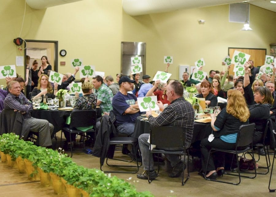 The Lucky Shamrock Auction, the biggest fundraising event of the year for the Rocksolid Community Teen Center, included both live and sil