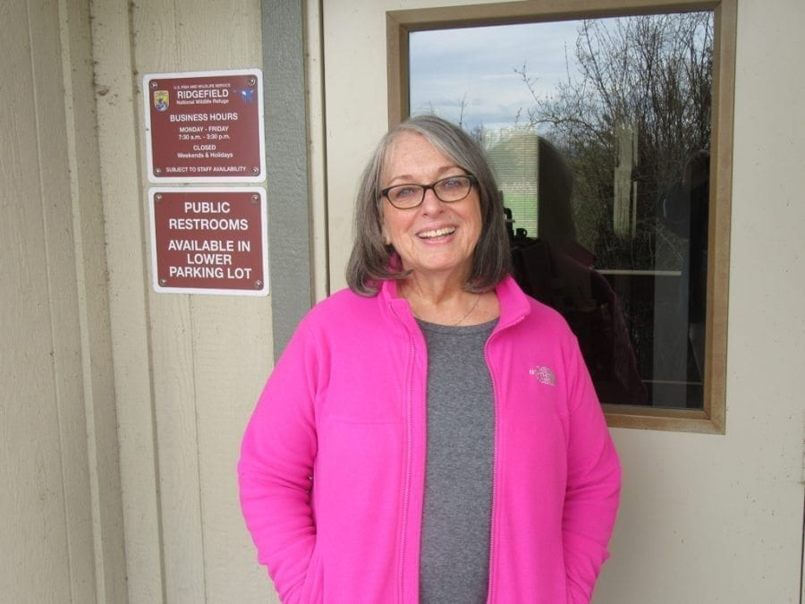 In addition to her many volunteer roles, Virginia Scott also works as a social worker at Our House in Portland. Photo by Carolyn Schultz-Rathbun