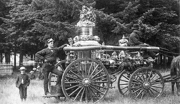 This 1884 Silsby 5th Class Pumper was once used by the Vancouver Fire Department. Photo courtesy of city of Vancouver