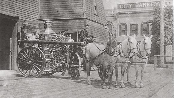 A 1904 Metropolitan Steamer used by the Vancouver Fire Department is shown here. Photo courtesy of city of Vancouver