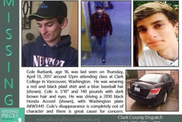 Search continues for missing Camas teen Cole Burbank