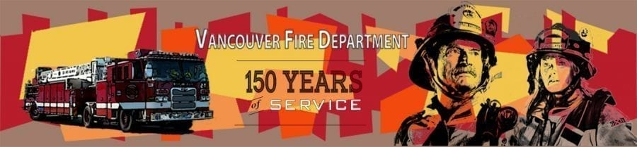 To commemorate the Vancouver Fire Department's 150 years of service to the community, a mural by local artist Guy Drennan will be painted on the North wall of the Walgreen's Pharmacy building, located at 2515 Main Street, this spring. Photo courtesy of city of Vancouver