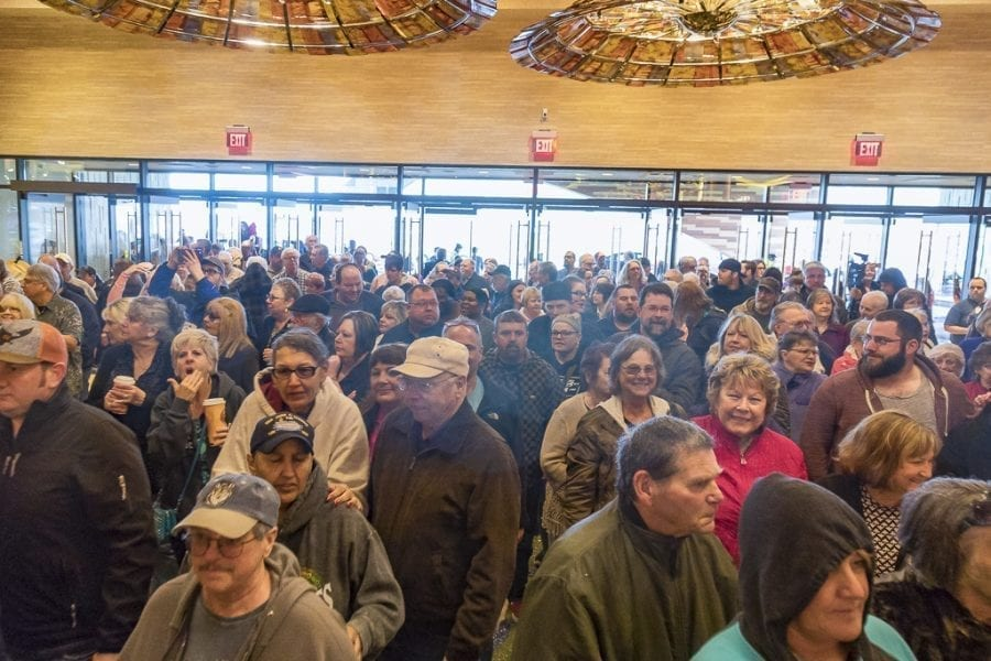 Patrons from all over the region turned out Monday for the grand opening of the ilani Casino in Ridgefield. The doors opened at 10 a.m. and observers indicated the casino was at its capacity a short-time later. Photo by Mike Schultz