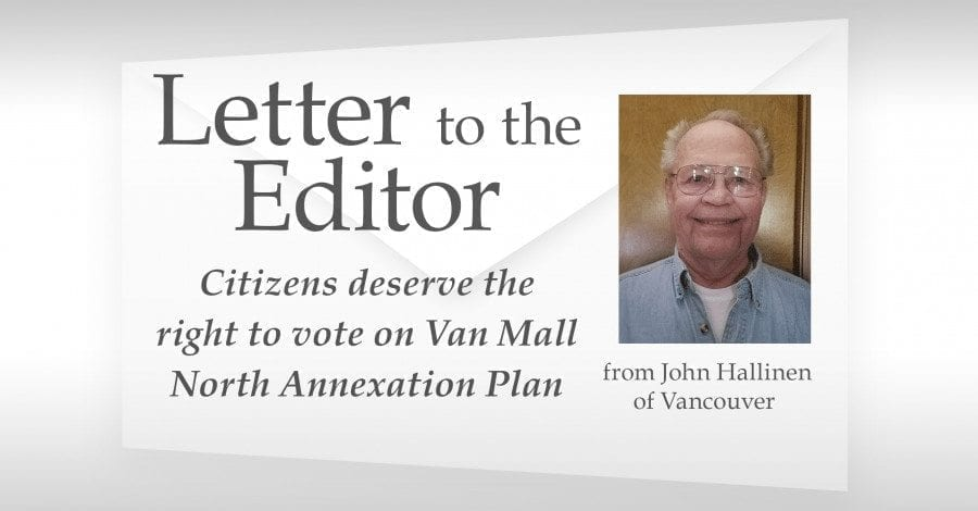 Citizens deserve the right to vote on Van Mall North Annexation Plan