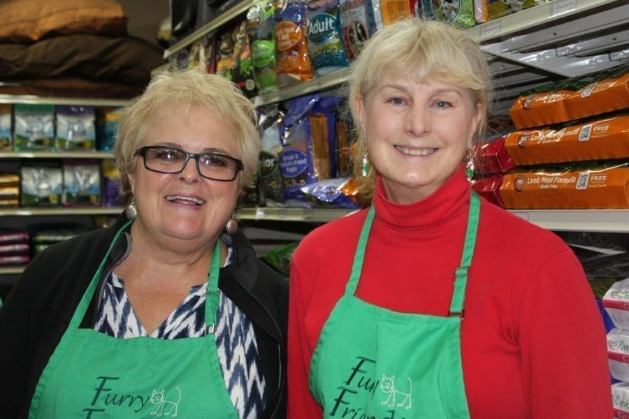 Furry Friends is a nonprofit organization made up by volunteers such as Marion Edwards (left) and Marilyn Forker (right). Photo courtesy of Diane Stevens