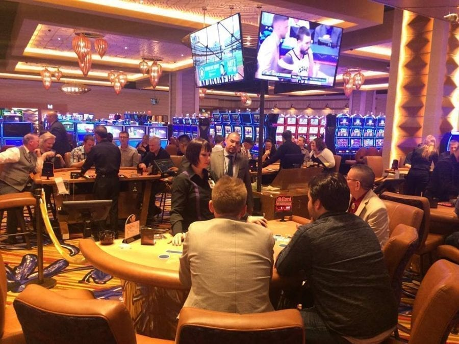 Prior to the opening of its doors to the public on Monday, members of the media got a sneak peek of the ilani Casino on Saturday night. Photo by Mike Schultz