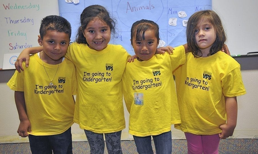 Kindergarten registration for the 2017-18 school year began this week in the Vancouver School District. Any child who will be 5 years old on or before Aug. 31, 2017, is eligible to enter kindergarten this fall. Photo courtesy of Vancouver Public Schools