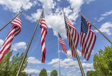 U.S. flag exchange offered by Davidson & Associates Insurance in celebration of Flag Day