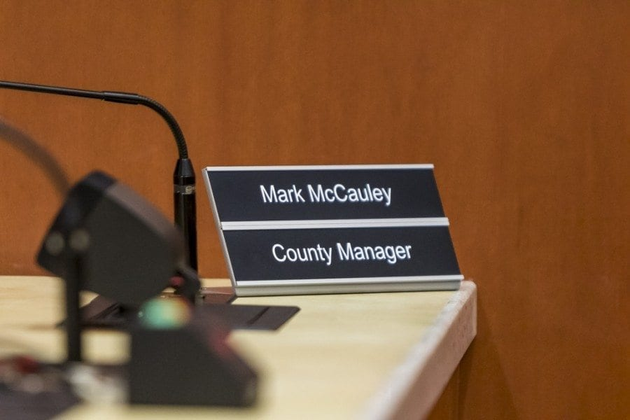 Councilor Jeanne Stewart spoke at Friday's special meeting that the challenge of implementing the Home Rule Charter had an impact on the councilors' decision to terminate County Manager Mark McCauley. Photo by Mike Schultz