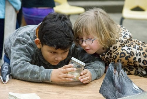 Hands-on events and experiments help increase student learning at Woodland Primary School. Photo courtesy of Woodland Public Schools