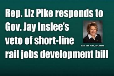Rep. Liz Pike responds to Gov. Jay Inslee's veto of short-line rail jobs development bill