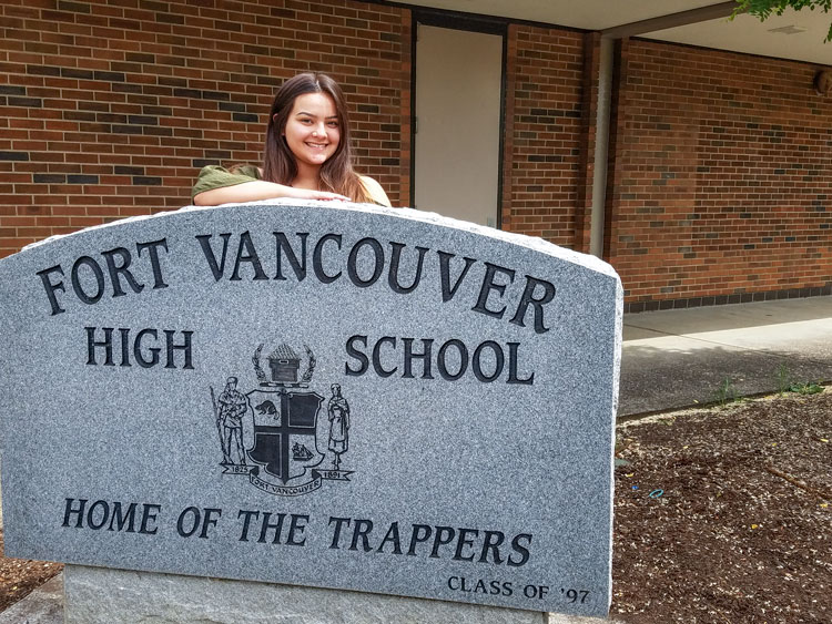 After several moves in the past four years, Zaleayah Blancas found a home at Fort Vancouver High School and turned around her academic career. While not one of the top students in her class, she is proud of her accomplishment: She has earned a diploma. Photo by Paul Valencia