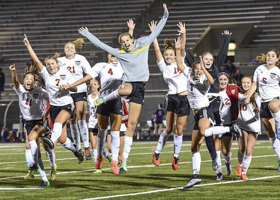 Camas was one of two Clark County girls soccer teams to win state titles on Nov. 19, 2016. Photo courtesy of Kris Cavan