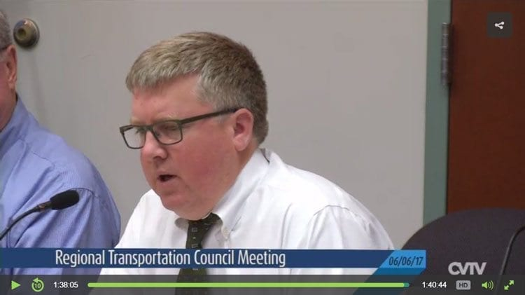 Click image to view portion of video from the Regional Transportation Council (06-06-17) meeting.