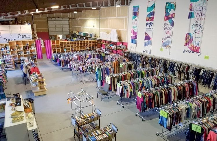 The Giving Closet went from 500 square feet when it opened in 2000 to 9,000 square feet now. The charity had a re-opening of sorts last week after the store was remodeled. Photo by Paul Valencia