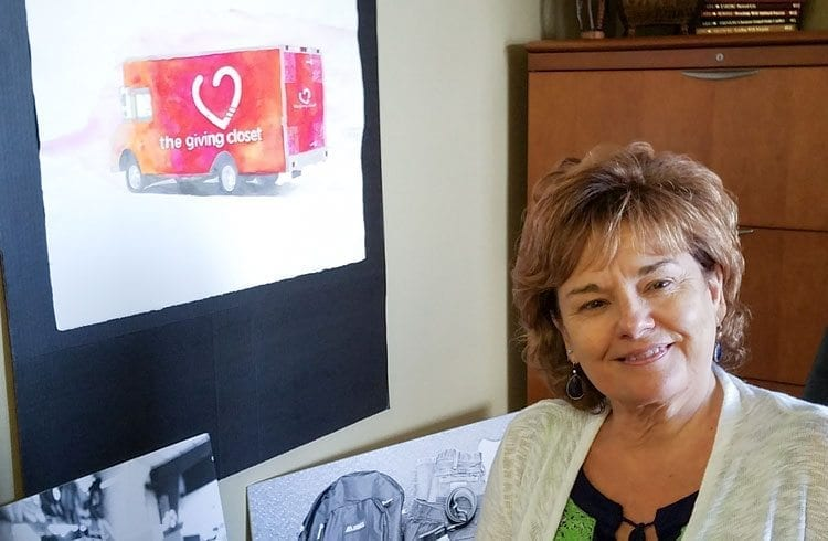 Rev. Denise Currie, the executive director of The Giving Closet, hopes to make her charity mobile with a truck to bring items to those in need.