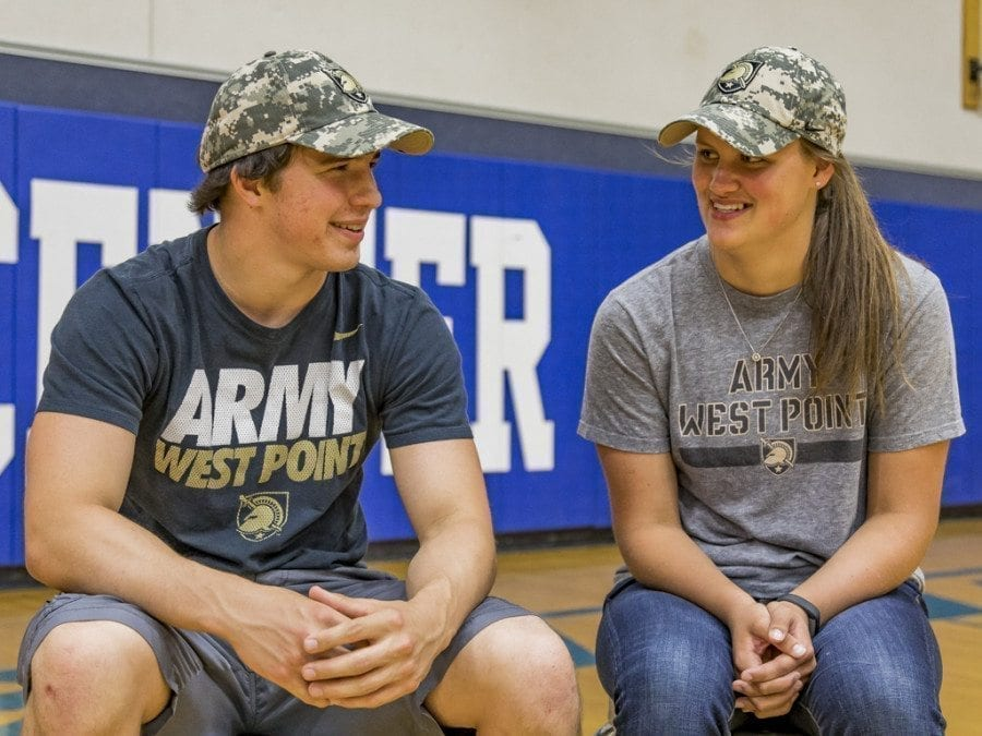 La Center High School students Jeffrey Mayolo (left) and Megan Muffett (right) are both headed to the United States Military Academy on July 1. Both will attempt to earn degrees and become officers. Photo by Mike Schultz