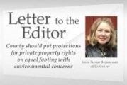 County should put protections for private property rights on equal footing with environmental concerns