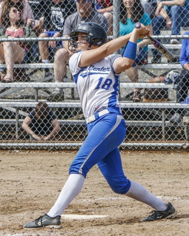 La Center High School student Megan Muffett, shown here, is headed to the United States Military Academy, where she will also play softball. Photo by Mike Schultz