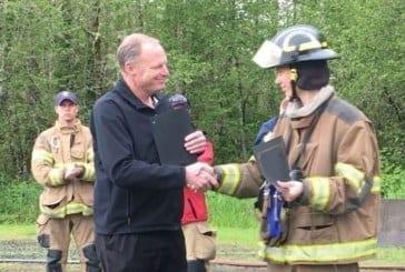 Fire cadet receives prestigious award from Cascadia Technical Academy
