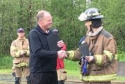 Fire cadet receives prestigious award from Cascadia Technical Academy