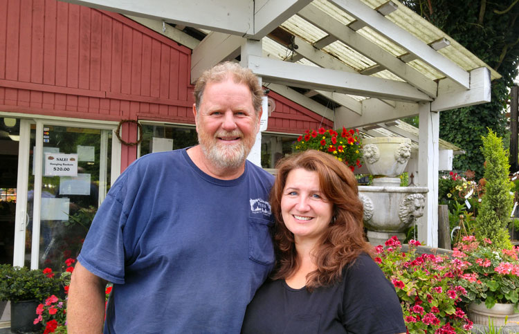 Kevin and Andreana Bird have operated Bird's English Garden and Nursery in Ridgefield since 1994. Photo by Michael McCormic, Jr.