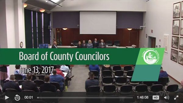 Camas resident John Ley testified before the Clark County Board of Councilors on June 13. Click image to watch.