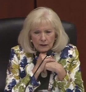 """Clark County Councilor Eileen Quiring said Tuesday that she believes the Southwest Washington Regional Transportation Council """"slipped'' because board members were not made aware early enough of Oregon's plans to place tolls on I-5 and I-205. Photo courtesy of CVTV"""