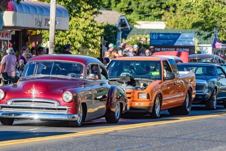 A variety of cars were showcased by their owners at the 5th annual Harvest Nights Cruise In Friday in Battle Ground. Photo by Mike Schultz