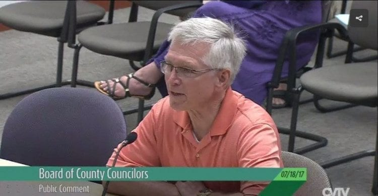 Testimony of Camas resident John Ley Tuesday before the Clark County Council