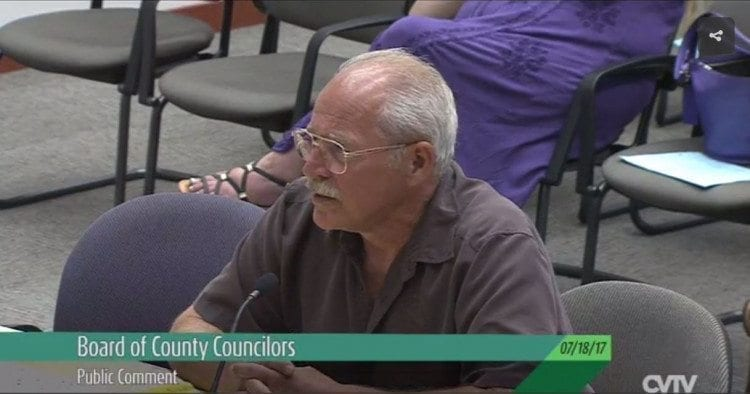 Testimony of citizen Steven Wallace Tuesday before the Clark County Council. Click to see video.