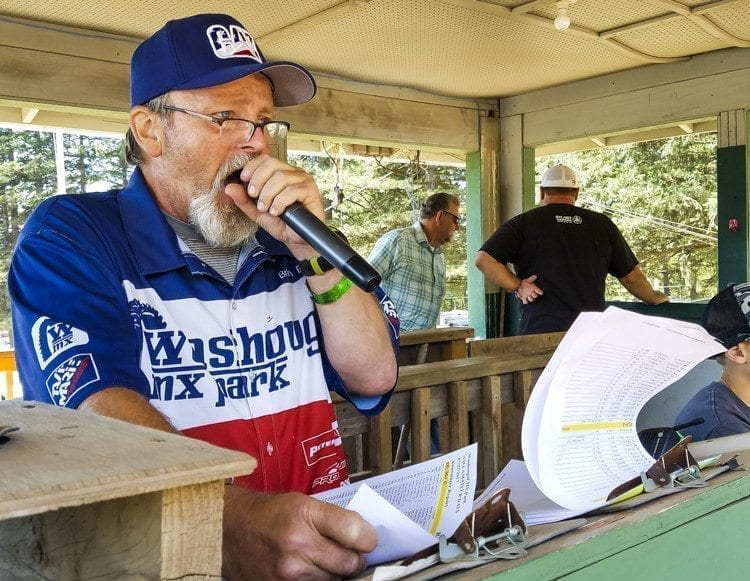 Brian Barnes, the voice of Washougal MX Park, has been with the park for decades. He said he knows the Washougal MX National has a huge economic impact on the region. Photo by Paul Valencia