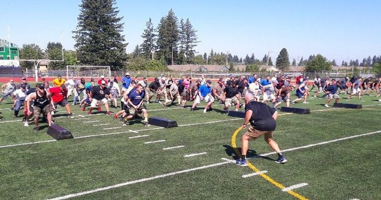 Clark County Youth Football coaches are required to get certified by USA Football for safety and health. USA Football held a clinic Saturday at McKenzie Stadium. Photo courtesy of CCYF