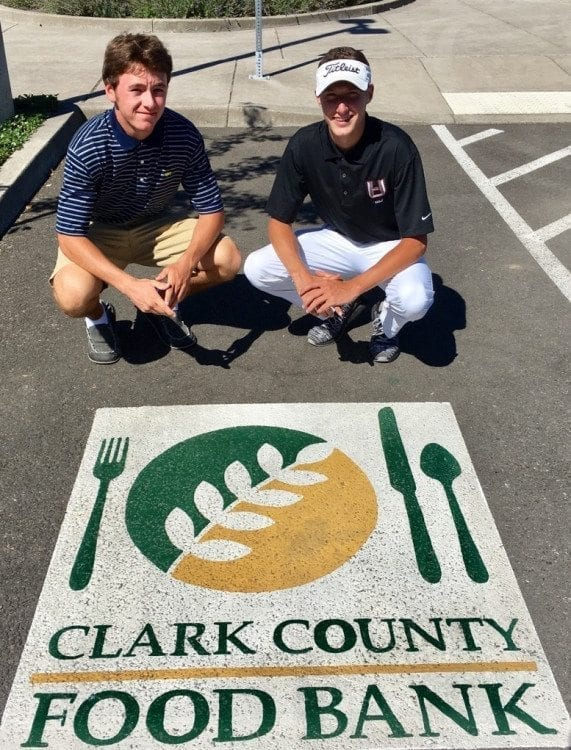 Keith Lobis, left, and Dylan Henry, both seniors-to-be at Union High School, are organizing the ninth Clark County Youth Football and Titans Youth Foundation Jamboree Food Drive. The event is Saturday at McKenzie Stadium. Photo courtesy of Keith Lobis