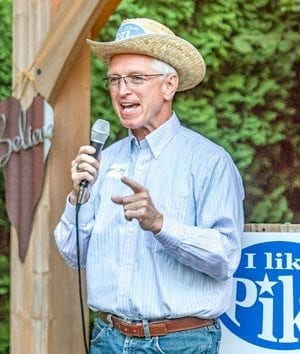 Camas resident first announced his intent to run for the Washington State Legislature (18th District, Representative Position 2) at Liz Pike's Hootenanny Fundraiser held earlier this month. Photo by Mike Schultz