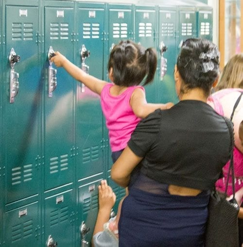 Woodland Middle School's annual Lunch and Lockers event will be held on Thu., Aug. 31 at 11 a.m. Photo courtesy of Woodland Public Schools