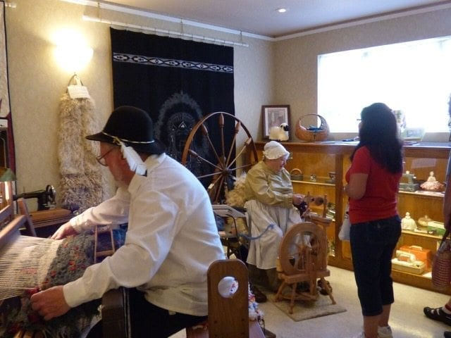 Demonstrations at this year's Heritage Day in Washougal will include creating rugs on the museum's antique traveling loom and operating the walking spinning wheel. Photo courtesy of Camas-Washougal Historical Society