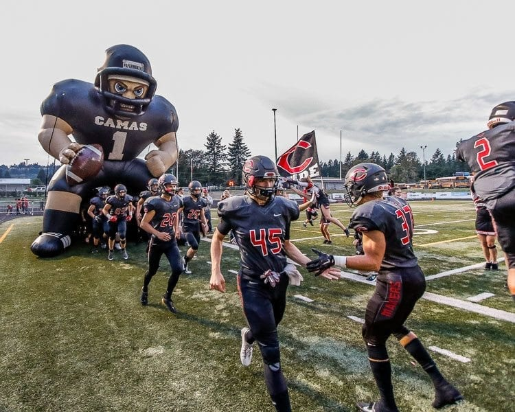 The Camas Papermakers had their first home game of the 2017 high school football season Friday at Doc Harris Stadium. Every Camas home game is an event all by itself. Photo by Mike Schultz