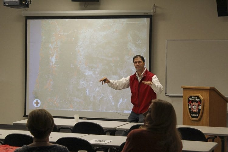 """The American Red Cross held a presentation Saturday called """"Prepare out Loud"""" to inform attendees about disaster preparedness. Photo by Alex Peru"""