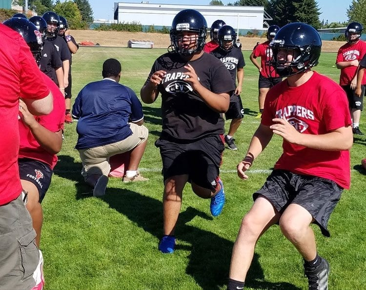 The Fort Vancouver Trappers are finding out rebuilding a high school football program is a long process. Photo by Paul Valencia