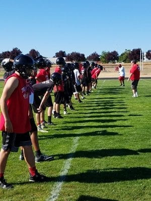 Fort Vancouver's players and coaches are putting it all on the line each week in pursuit of that first win of the season. Photo by Paul Valencia